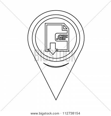 Map Pin Pointer Image File Type Format Gif Icon