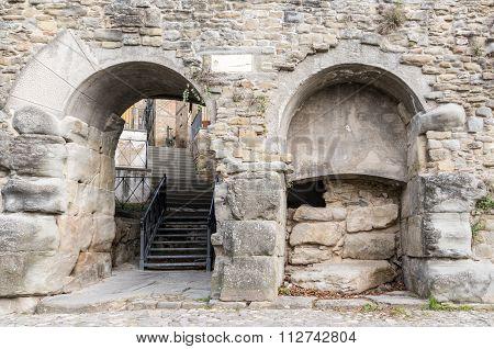 Ancient Walls Of Cortona In Tuscany