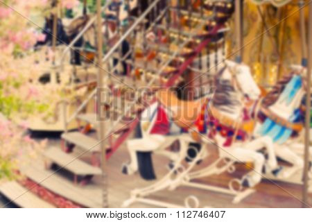 Carousel Merry-go-round Paris Horse Vintage Background