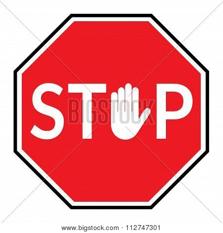 stop sign on white backgroun