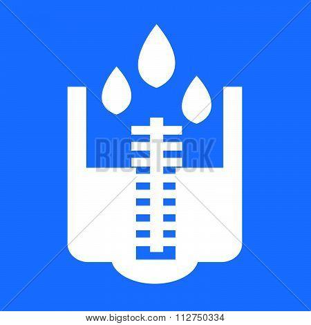 Rain Meter Icon Illustration Design