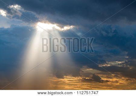 Sun Ray Light Through Down