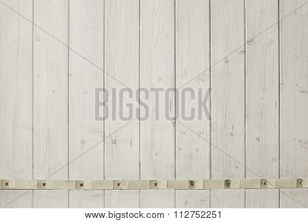 Background Of Light Wooden Planks, Painted With Natural Finish
