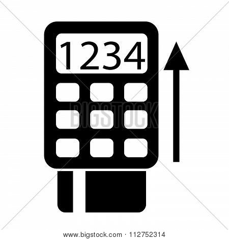 Pos Terminal Icon Symbol Illustration Design