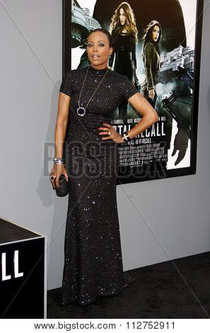 LOS ANGELES, CALIFORNIA - August 1, 2012. Aisha Tyler at the Los Angeles premiere of