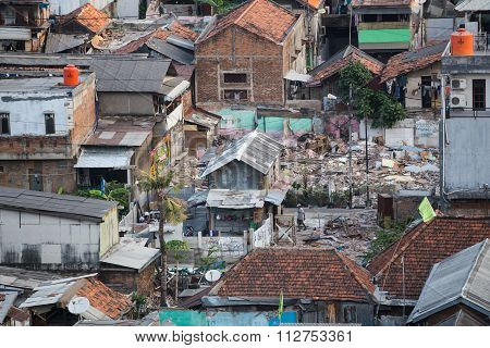 Jakarta, Indonesia - Circa October 2015: Slums Of Jakarta, Capital Of  Indonesia