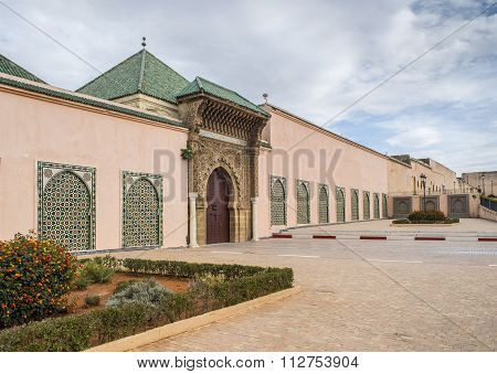 Moulay Ismail Mausoleum In Meknes Medina. Morocco.