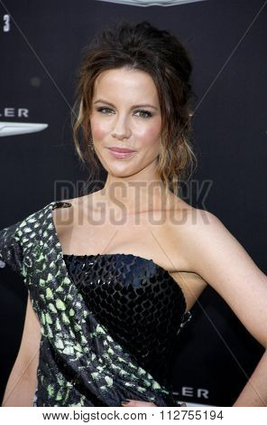 LOS ANGELES, CALIFORNIA - August 1, 2012. Kate Beckinsale at the Los Angeles premiere of