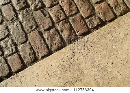 Cobblestones as abstract background