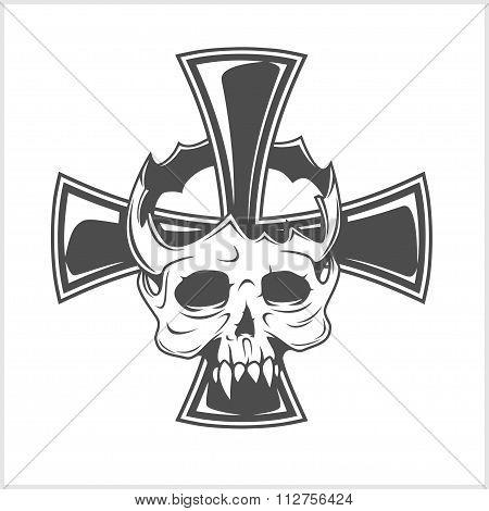 Skull and German cross