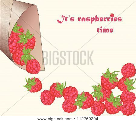 Red raspberry background