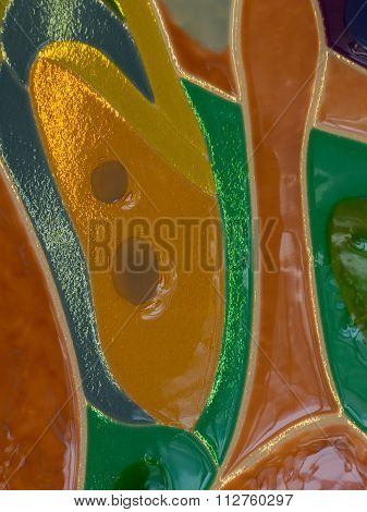 Abstract Stained Glass Of Colored Glass