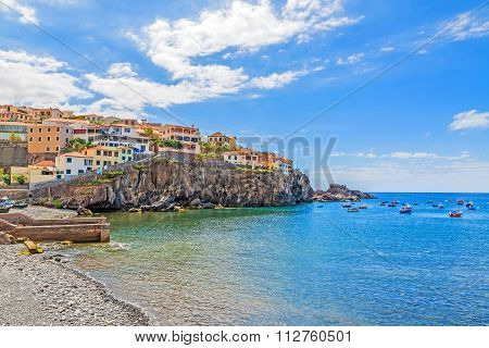 Camara De Lobos Harbor, Madeira With Fishing Boats