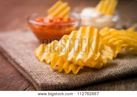 Chips With Sauce