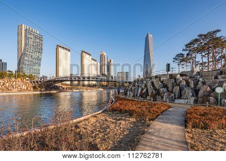 Songdo Central Park In Songdo International Business District , Incheon South Korea