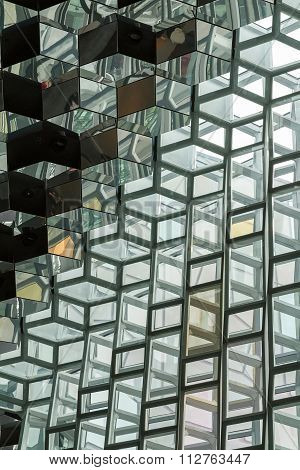 Reykjavik, Iceland, May 2014: An Interior View Of The Harpa Concert Hall And Conference Centre