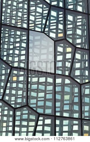 Reykjavik, Iceland, May 2014: An exterior view of the Harpa Concert Hall and Conference Centre