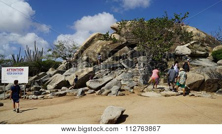 Casibari Rock Formation in Aruba