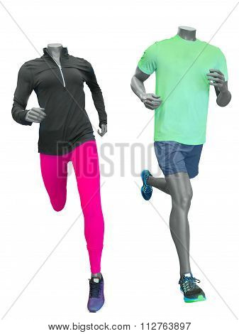 Two Running Mannequins