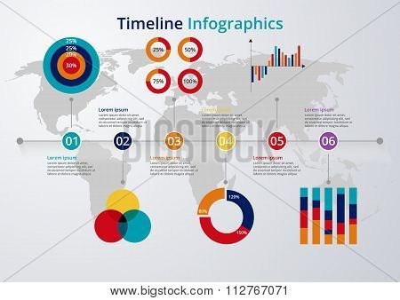 Vector illustration of a timeline infographics