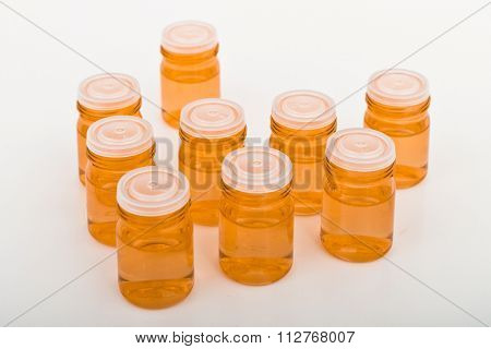 cosmetic glass containers with concentrated antioxidant