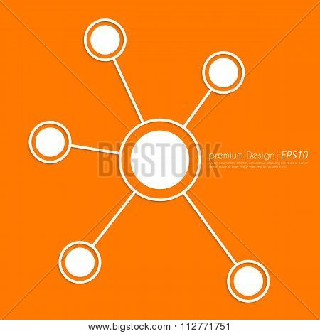 Stock Vector Linear icon social ties