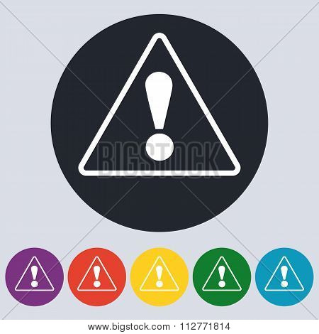 Stock Vector Linear icon attention.