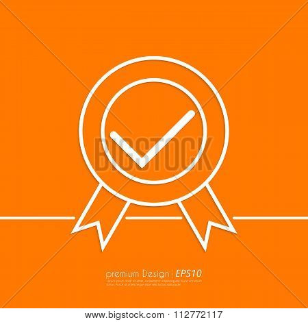 Stock Vector Linear icon quality