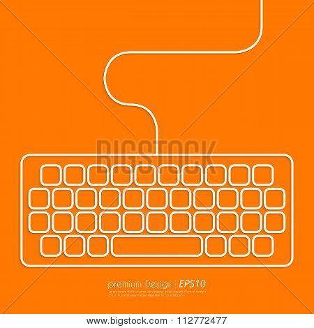 Stock Vector Linear icon keyboard