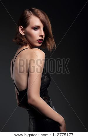 Portrait Of Sensual Woman Model.
