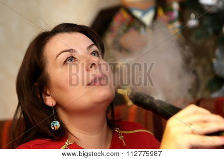 Woman Smoking Shisha