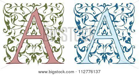 Vintage initials letter B.