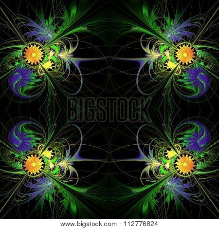 Flower Background In Fractal Design.