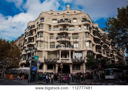 La Pedrera Building In Barcelona, Catalonia, Spain