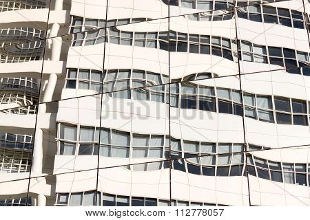 Reflection Of A Building.