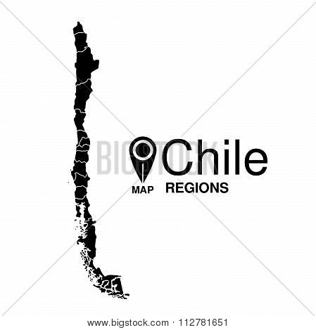 Regions Map Of Chile