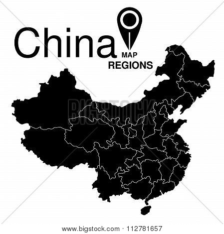 China Map. Regions Of China