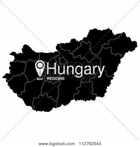 Regions Map Of Hungary. Hungary