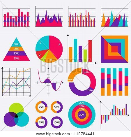 Stock Vector Business data market elements