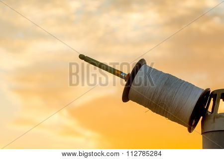 Indian spool for kite fighting