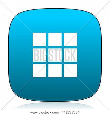 thumbnails grid blue icon