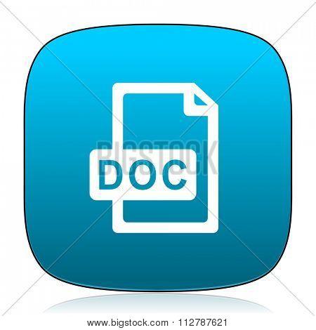 doc file blue icon