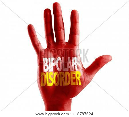 Bipolar Disorder written on hand isolated on white background