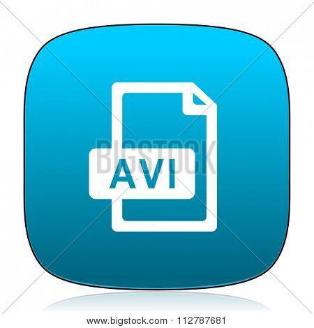 avi file blue icon