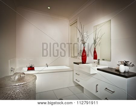 Picture Of A Beautiful White Washroom