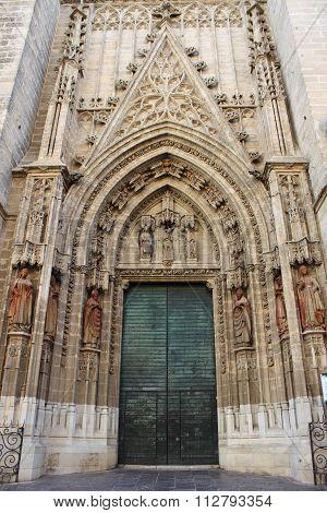 Entrance door of Sevilla Cathedral