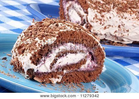 Pastel de chocolate de brazo de gitano