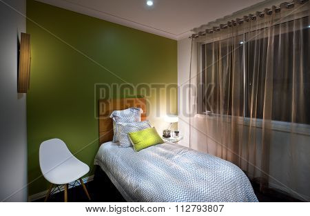 Beautiful Image Of A  Carpeted Bedroom