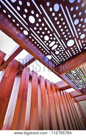 Beautifull Roof Of Hosue Made Of Wood