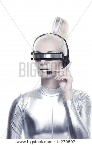 Beautiful cyber operator